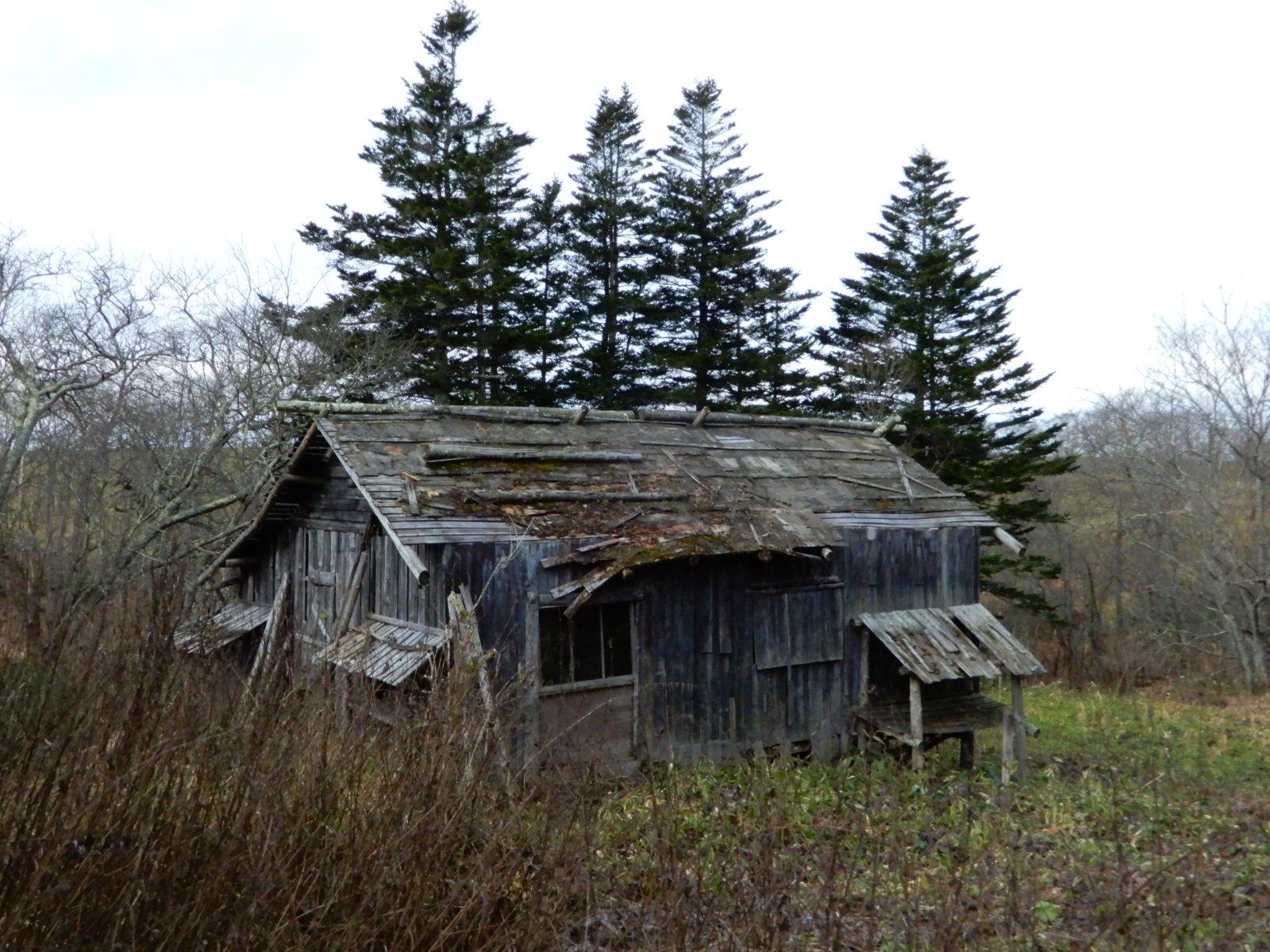 奥行臼 古い小屋