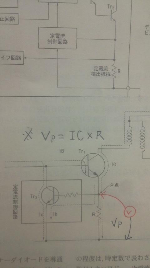 P点の電位