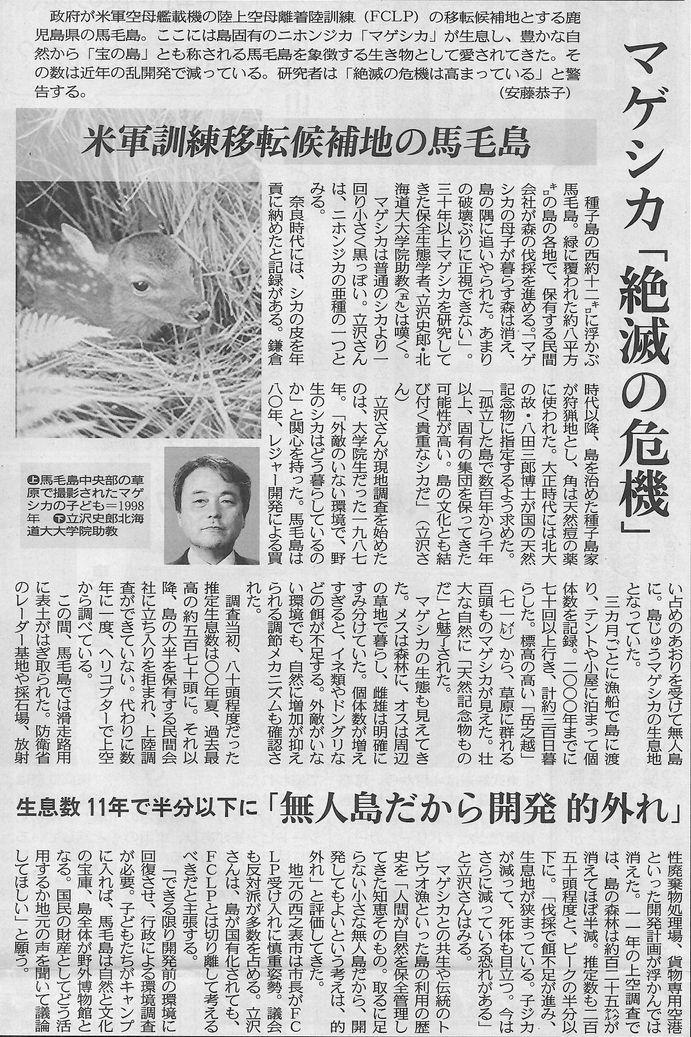 マゲシカ「絶滅の危機 東京190203234