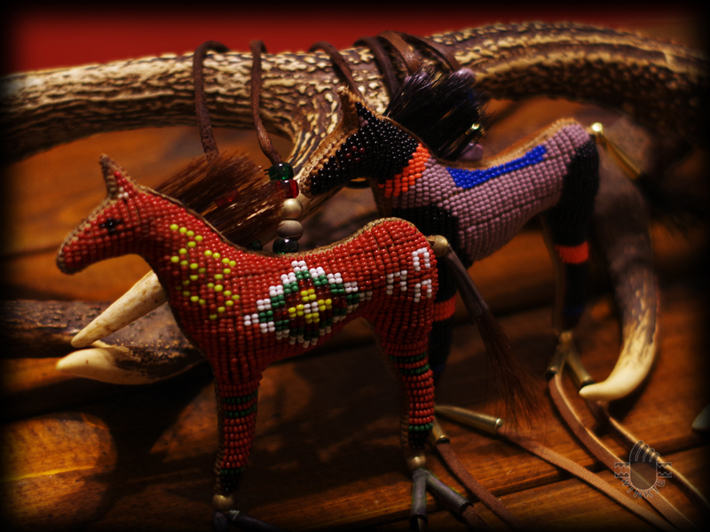 Two Beaded Horse Amulets Janie 2