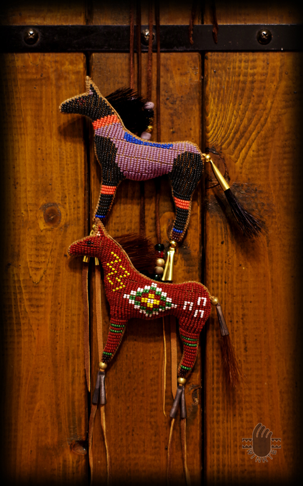 Two Beaded Horse Amulets Janie 1