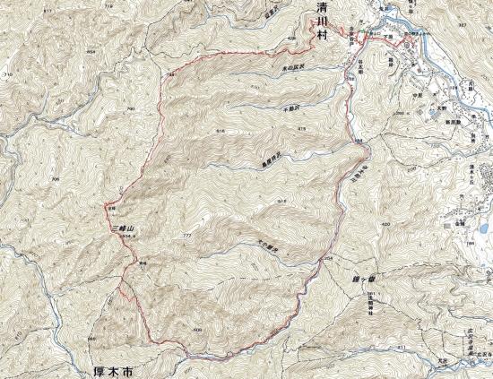 181219 大山三峰軌跡