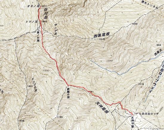 181221 谷川岳田尻尾根