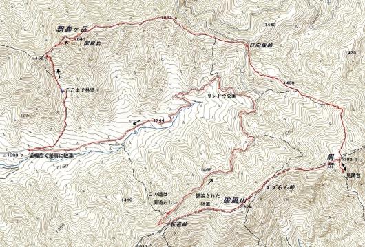 釈迦が岳・黒岳