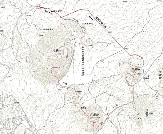 190208 大室山軌跡