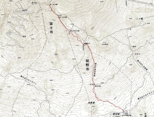 190212 宝永山軌跡