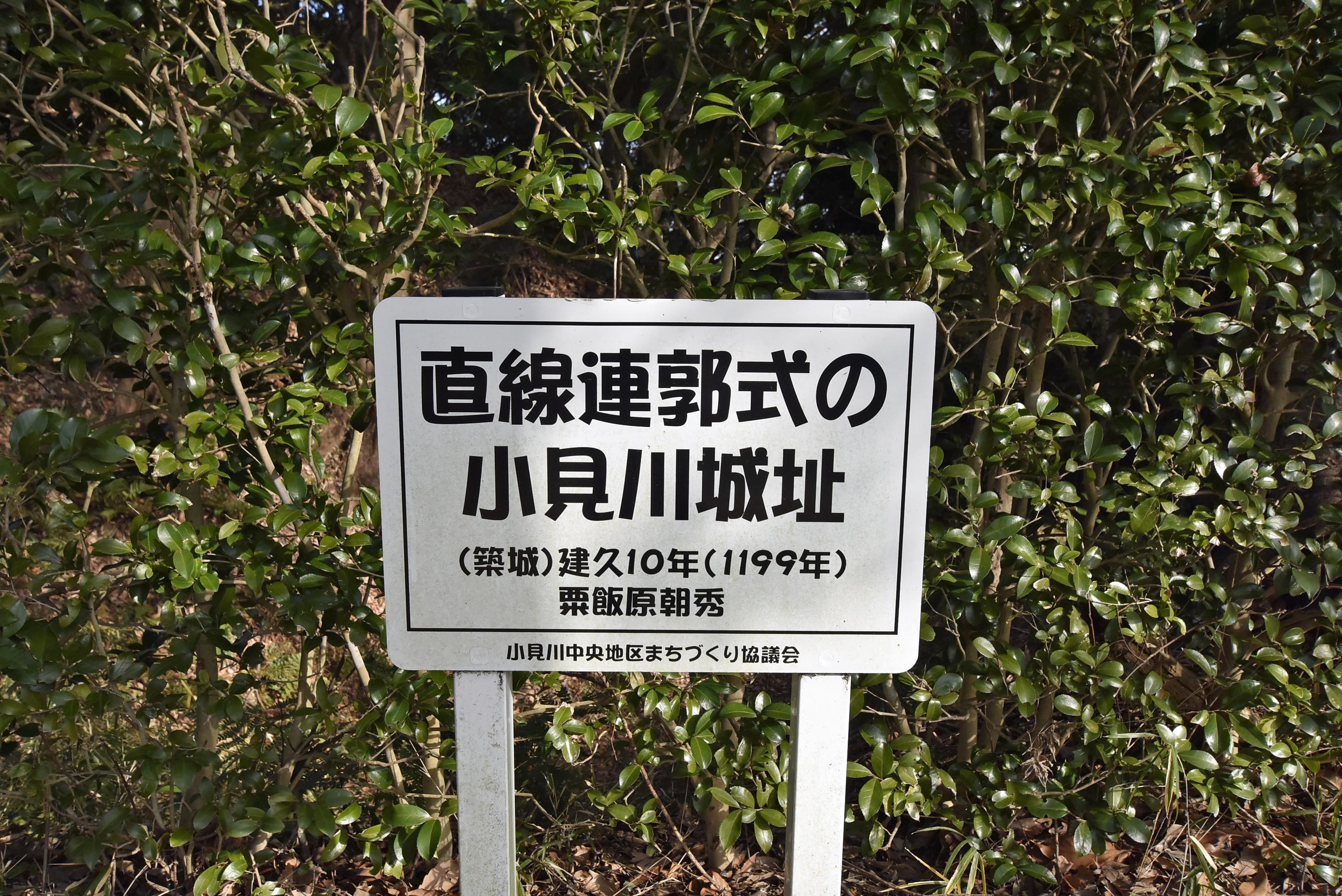 小見川 簡素城址板