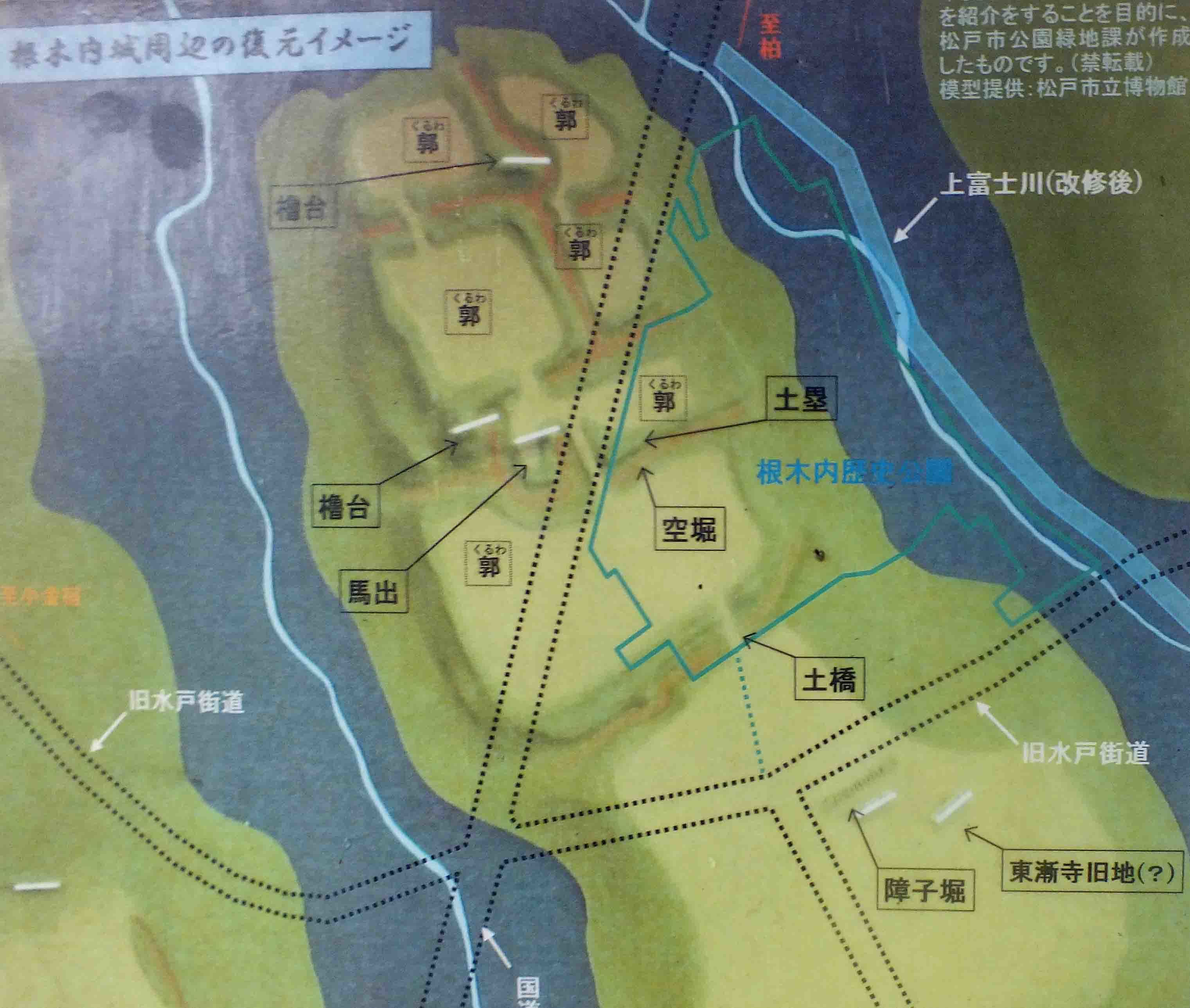 根木内城  復元イメ-ジ図