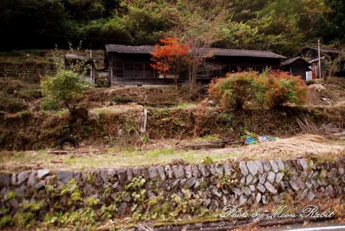 石垣のある風景 愛媛県上浮穴郡久万高原町