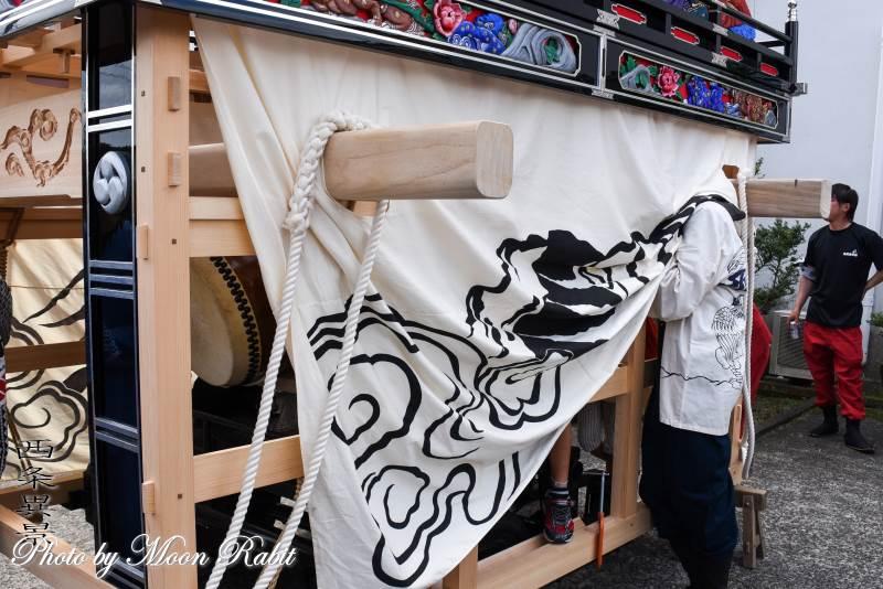 西田だんじり(屋台) 土台幕・台輪・舁き棒