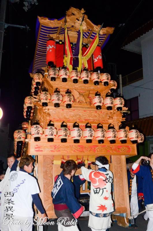 上之浦だんじり(屋台) 前夜祭