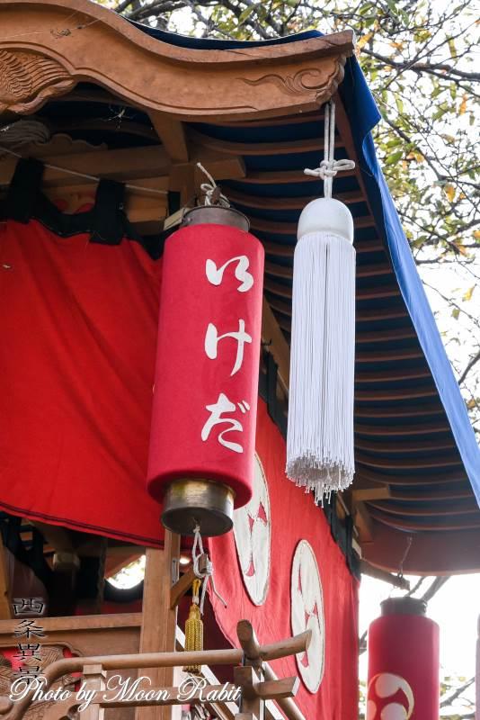 池田だんじり(屋台) 祭り提灯
