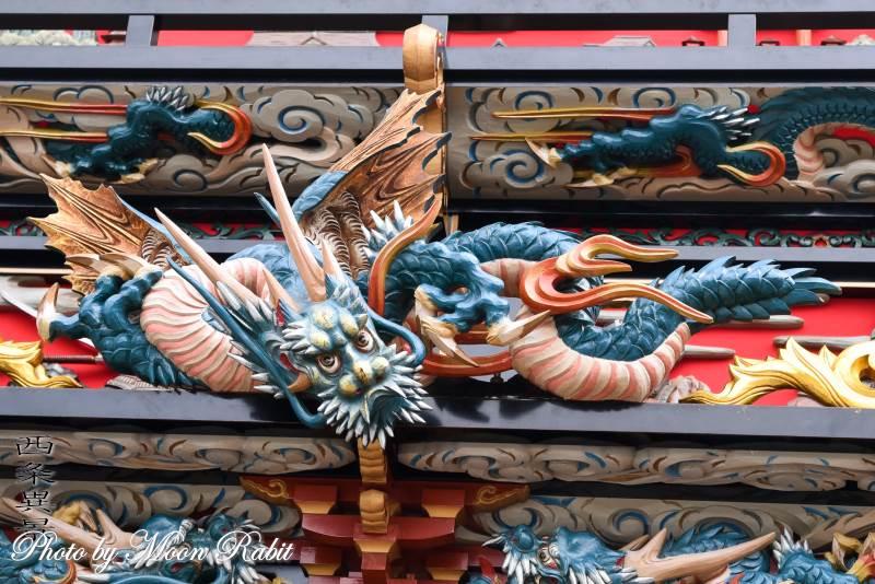 置き彫り 東常盤だんじり(屋台) 置彫り