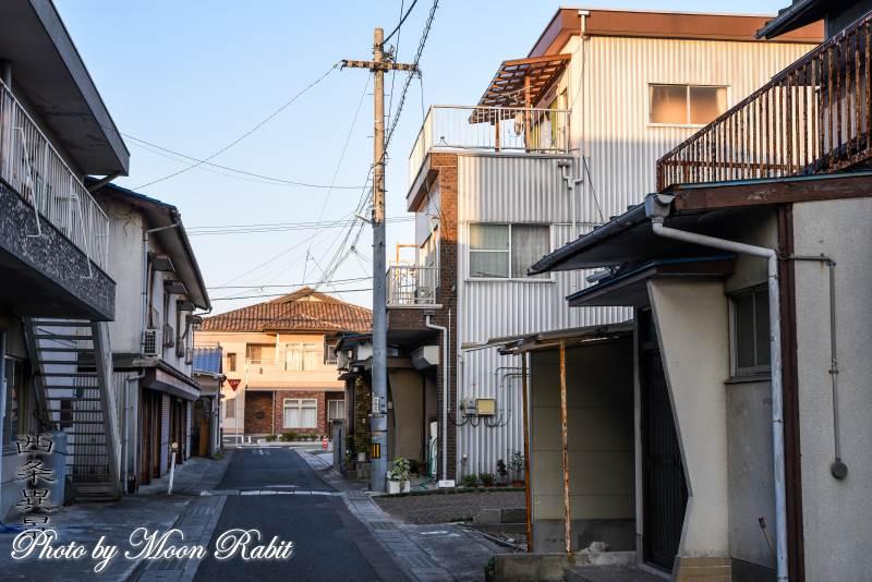 愛媛県西条市北町の家並み