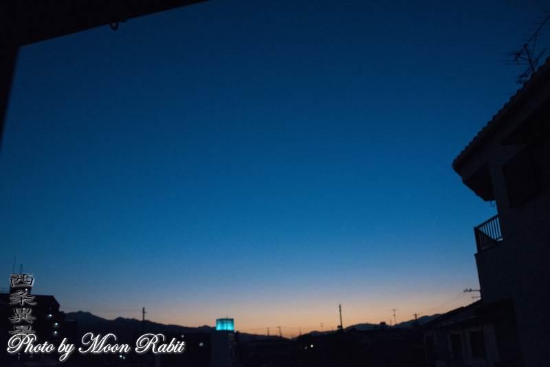 日暮れ 愛媛県西条市神拝