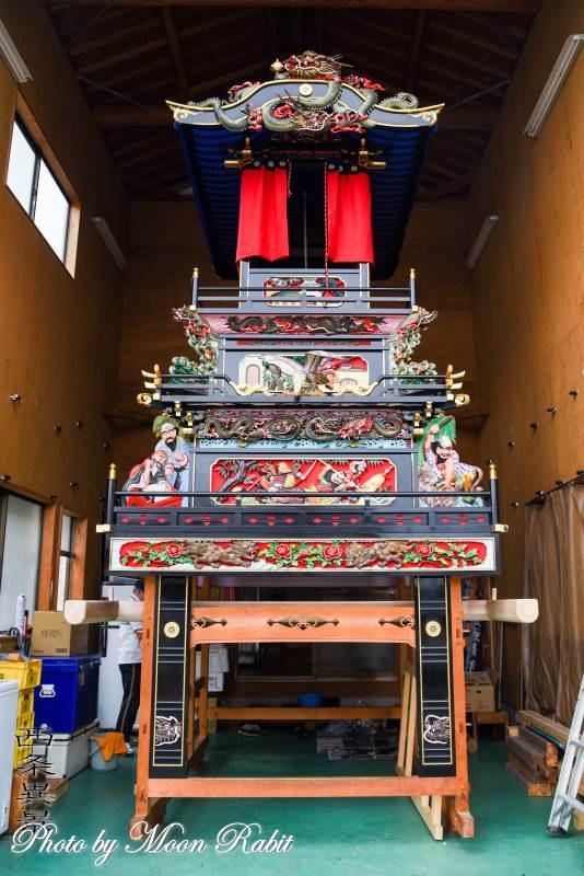 二代目新玉通屋台(だんじり) 屋台蔵 西条祭り 愛媛県西条市新玉通り