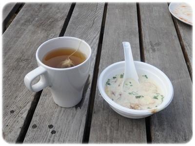 まるた食堂の豆乳スープ