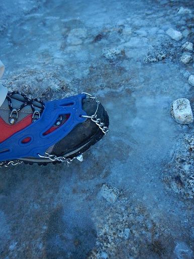 1月24日 宮之浦岳登山道の凍結