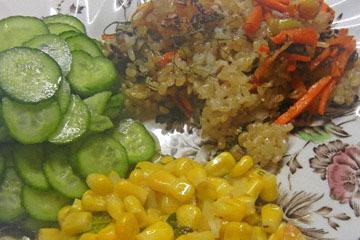 blog CP9 Brunch, Carrot & Sweet Rice, Turkish Cucumber, Corn & Tomato Saute_DSCN0683-10.28.18.jpg