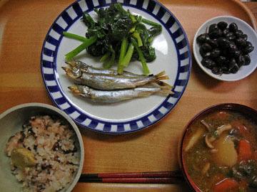 blog CP1 Dinner, Kuri Mame Gohan, Shishamo, Miso shiru_DSCN3442-1.11.17.jpg