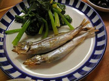 blog CP1 Dinner, Kuri Mame Gohan, Shishamo, Miso shiru_DSCN3444-1.11.17.jpg