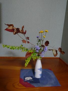 2018年11月12~13日 南郷旅館 部屋の花