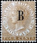 タイ・バンコク加刷(1883)