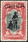 ベルギー領コンゴ加刷(1908)