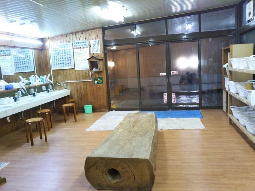 ホテル浦島 ハマユウの湯 脱衣所