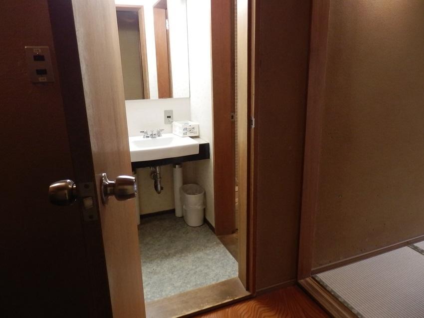和室 洗面コーナー