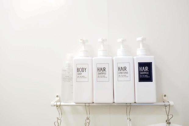 浴室・ダイソー・詰め替えボトル用ステッカー(シャンプー)②