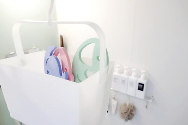 セリア・連結できるピンチバスケット・浴室・おもちゃ①