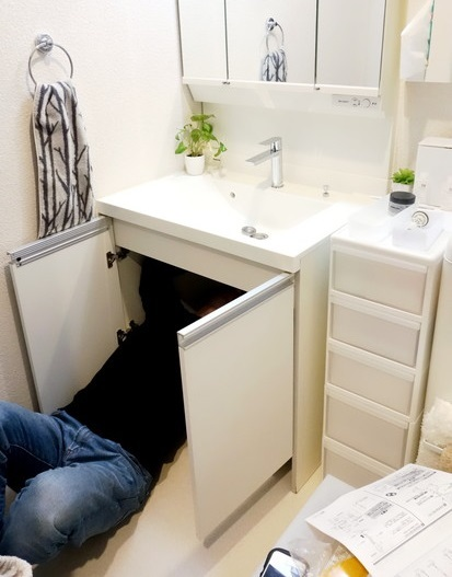 洗面所・洗面台・蛇口・水栓取り替え①
