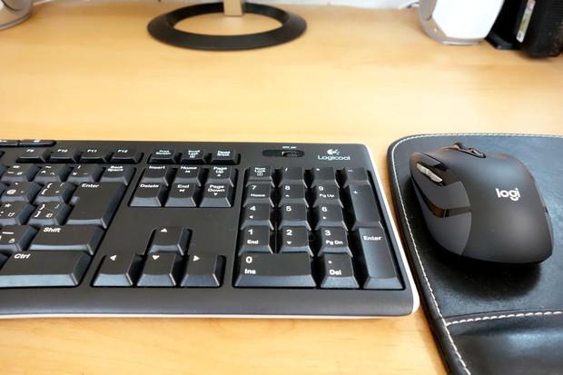 Logicool・ワイヤレスマウス&キーボード・パソコン・ワークスペース②