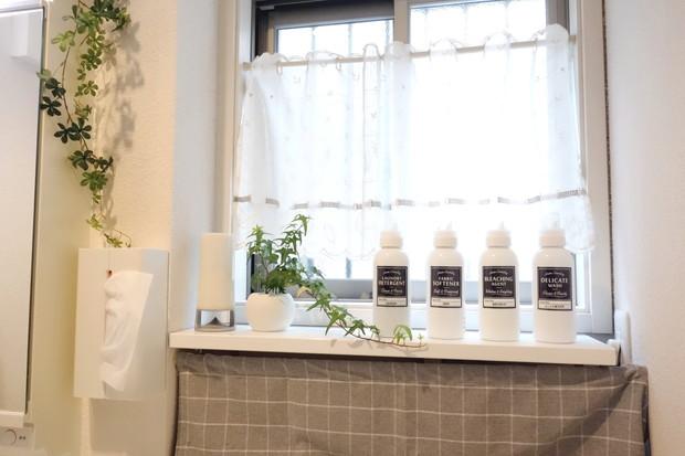 洗面所・洗剤ボトル・キャンドゥ・インデックスステッカー 洗剤詰め替え用①