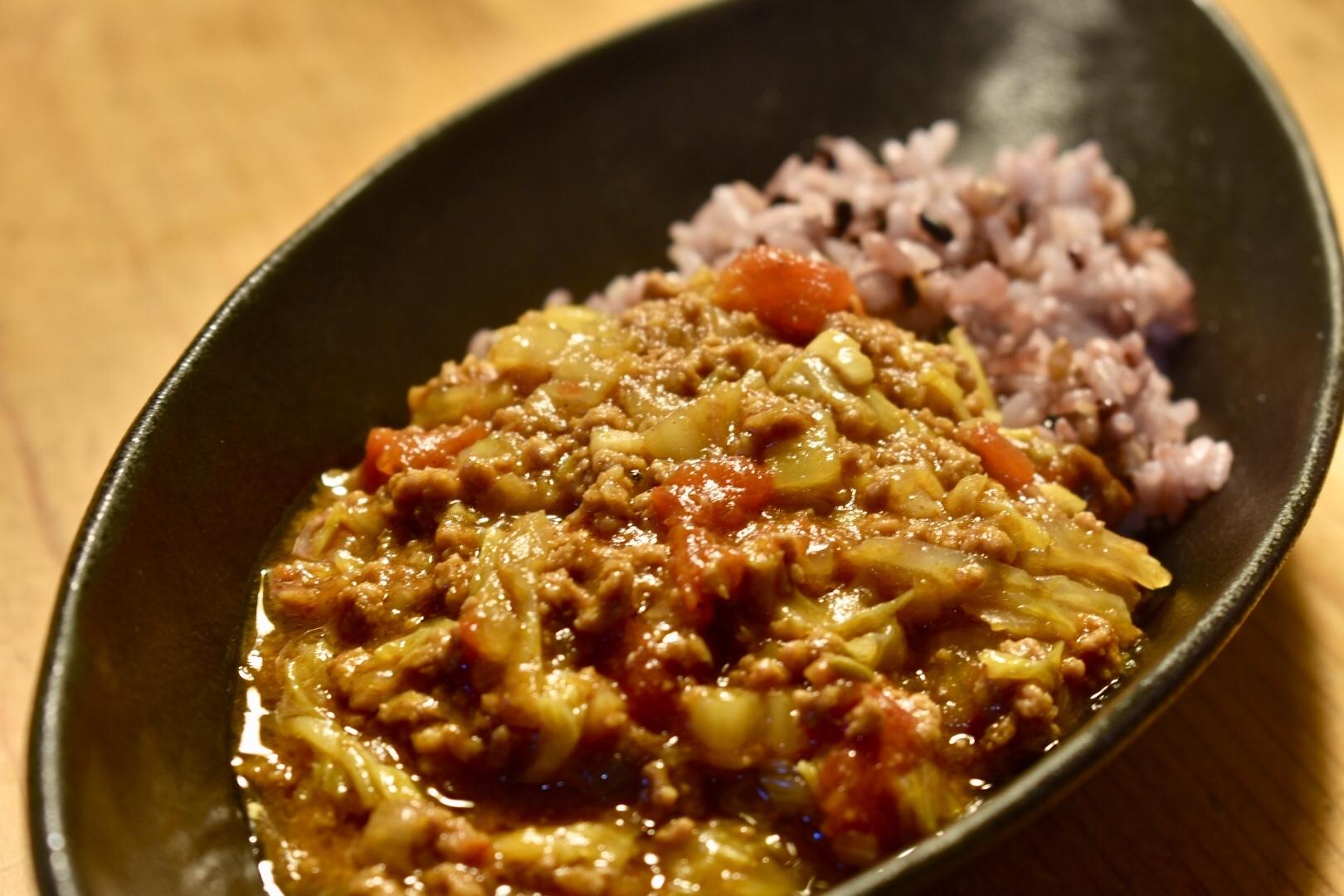 白菜とひき肉のカレー