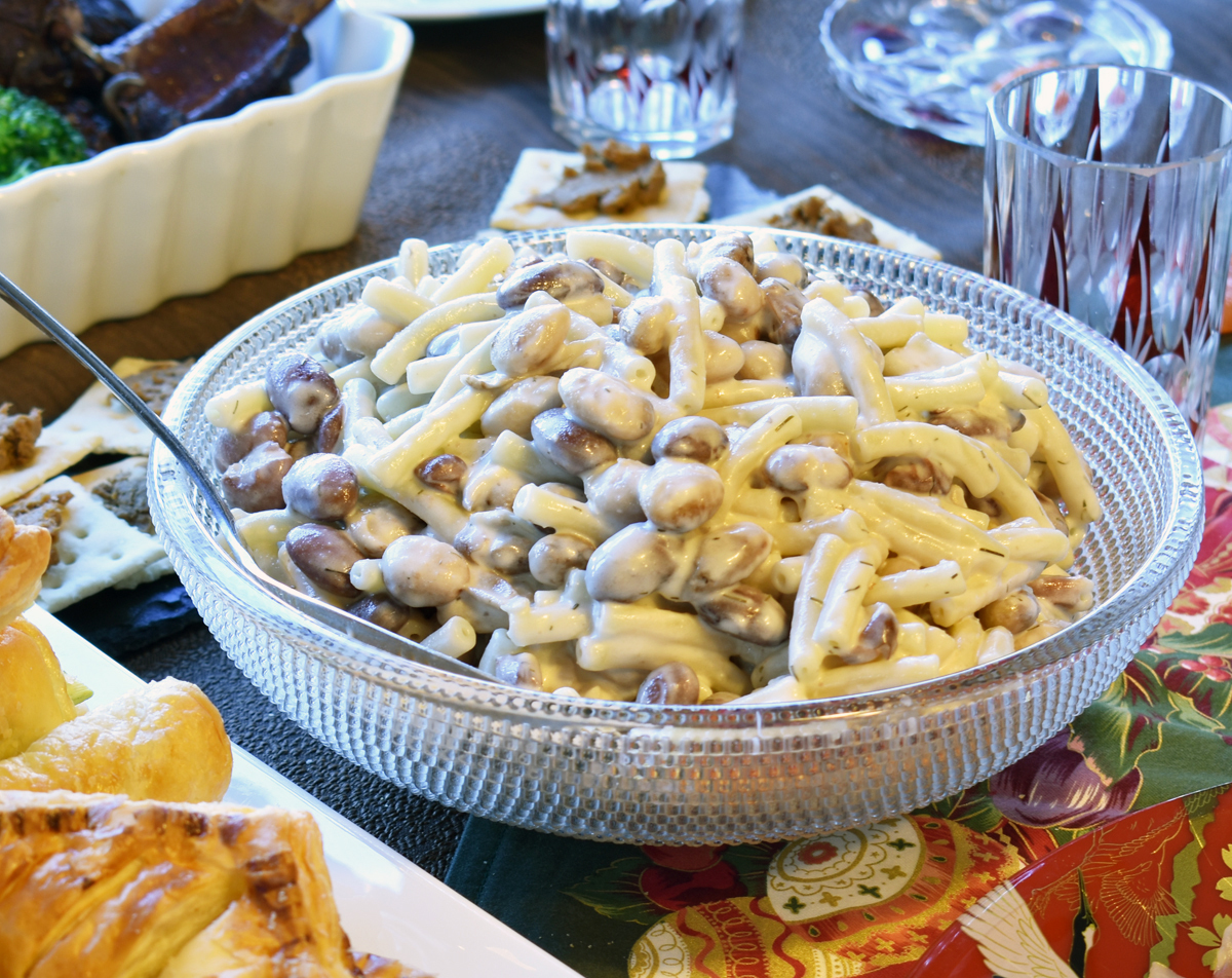 お豆とマカロニのサラダ