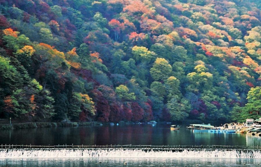 嵐山秋景01