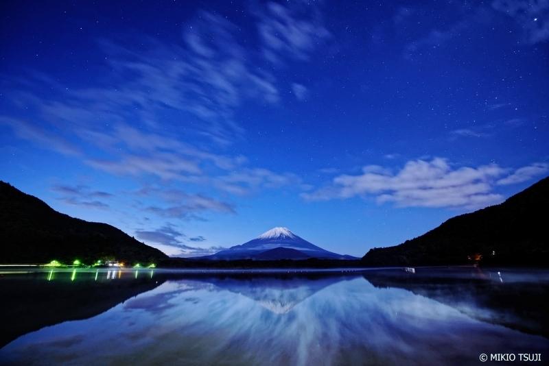 絶景探しの旅 - 0767 湖沼霧が舞い上がる精進湖(山梨県 富士河口湖町)