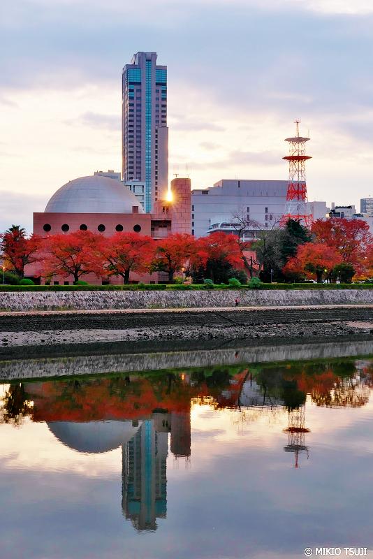絶景探しの旅 - 0772 紅葉に染まる現代の広島ドーム(広島市 中区)