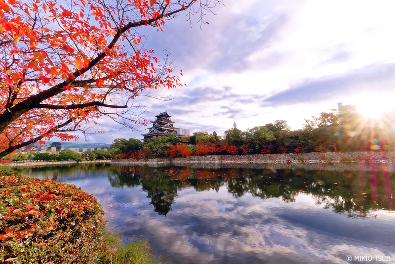 絶景探しの旅 - 0773<br /> 秋の朝の広島城パノラマ (広島市 中区)5