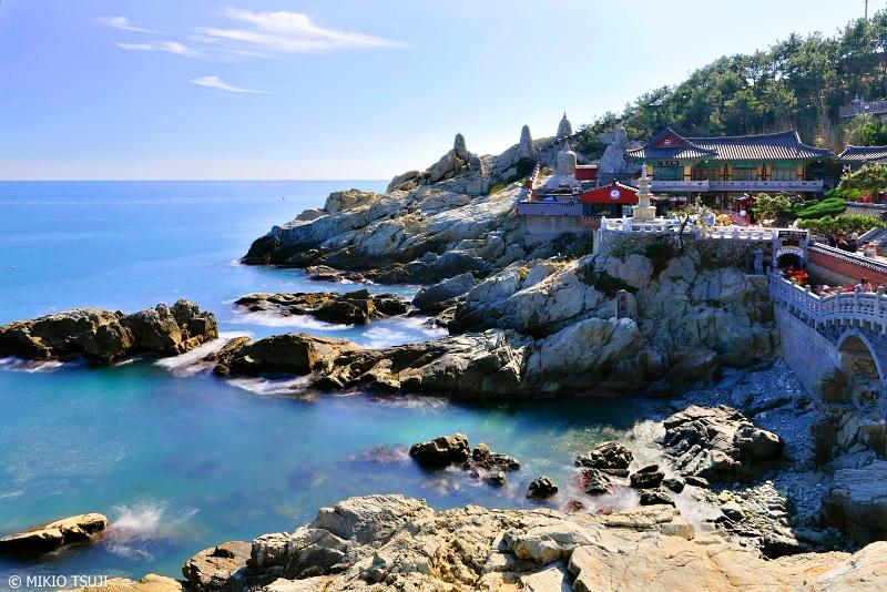 絶景探しの旅 - 0780 波が打ち付ける岸壁の寺「海東龍宮寺」 (釜山広域市 機張郡)