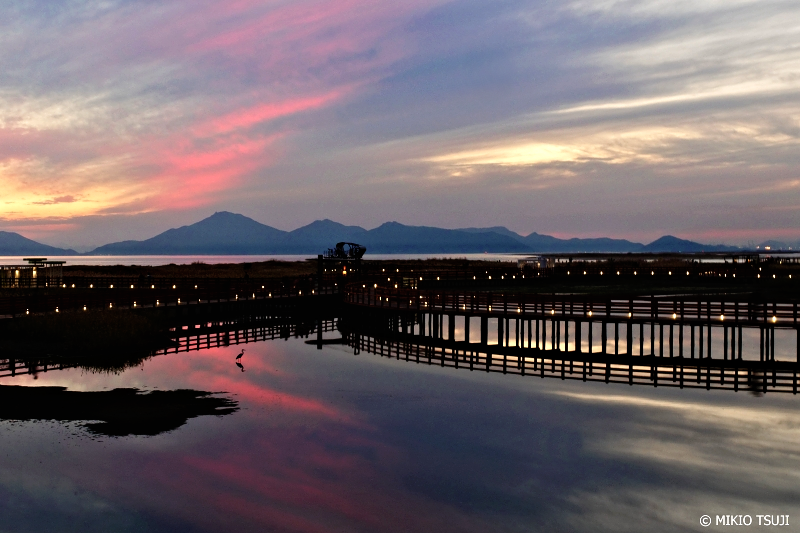 絶景探しの旅 - 0785 夕空がピンクに染まる湿地の遊歩道 (多大浦/釜山広域市 沙下区)