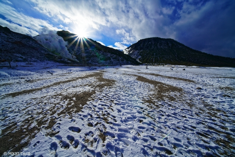 絶景探しの旅 - 0795 アトサヌプリと雪の原野 (北海道 弟子屈町)