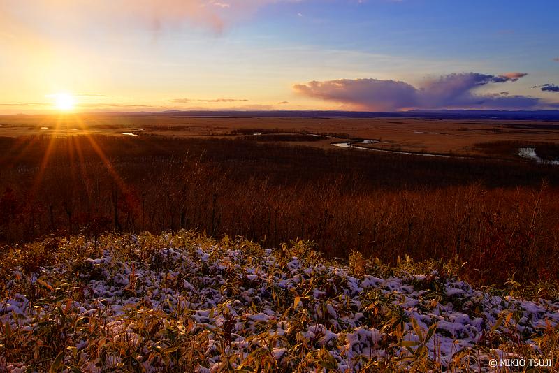 絶景探しの旅 - 0829 初冬の釧路湿原の夕陽 (細岡展望台/北海道 釧路町)