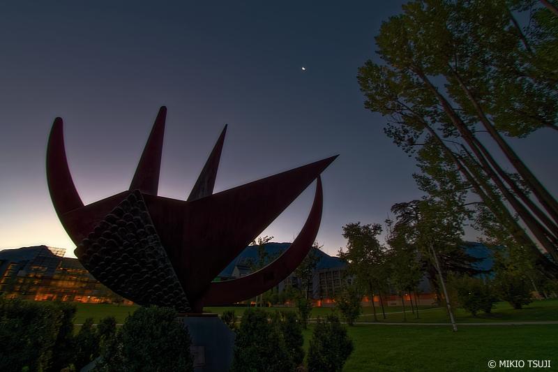 絶景探しの旅 - 0851 トレント フラテッリ・ミケリン公園の夜明け (イタリア トレント)